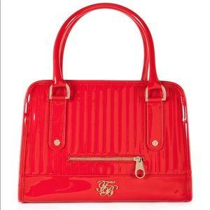 Ted Baker Allan Orange Patent Bowler Bag